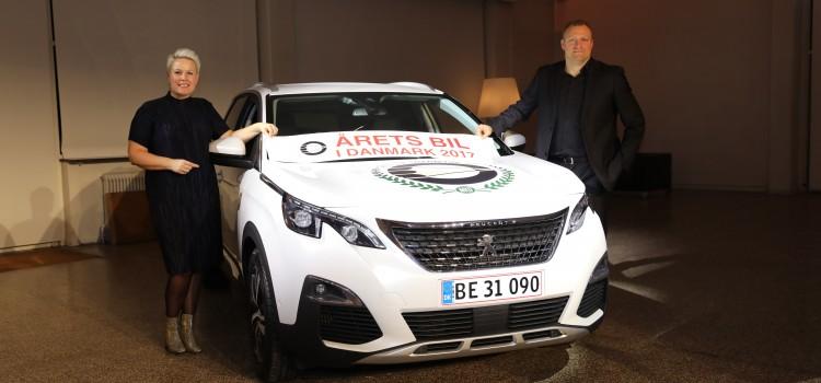 Peugeot 3008 er Årets Bil i Danmark 2017